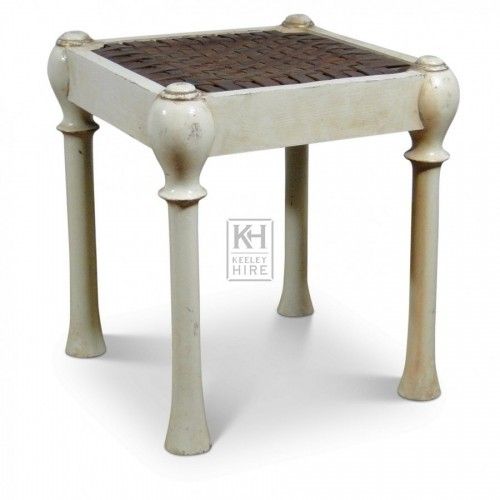 White Painted Stool