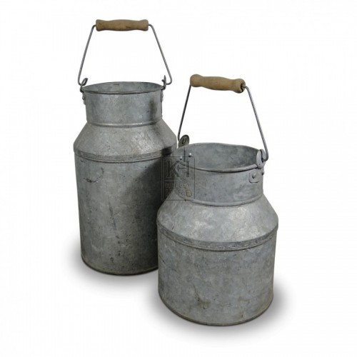 Galvanised Hand Milk Churns