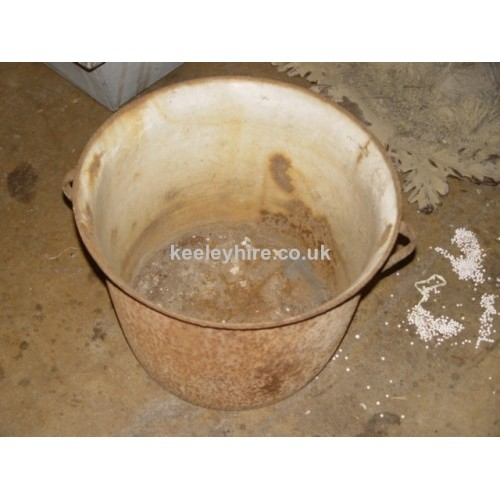 Round Galvanised tub