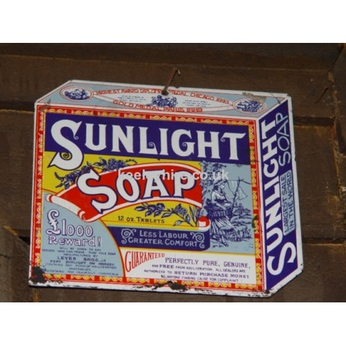 Sunlight Soap enamel sign