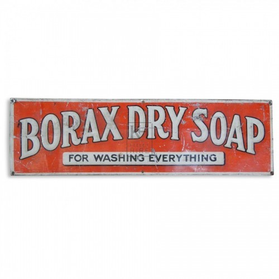 Borax Dry Soap Sign