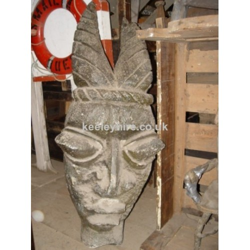 Large Polystyrene Carved Head