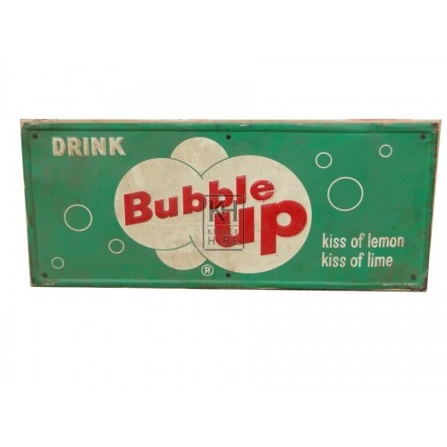 Bubble up soft drink enamel sign