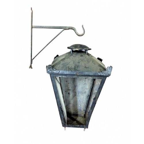 Hanging Lamp on Iron Bracket