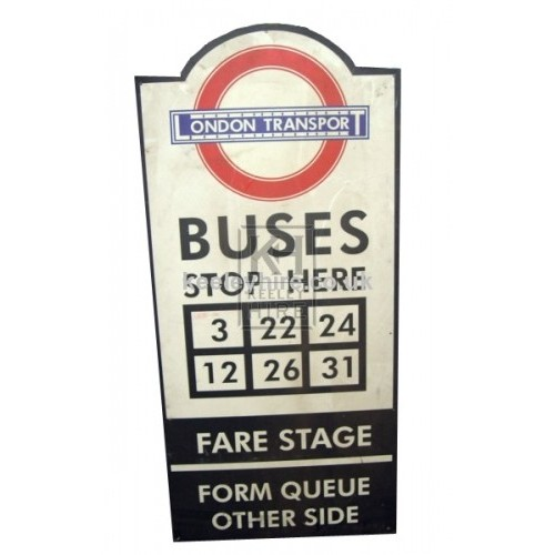 London Transport Bus sign