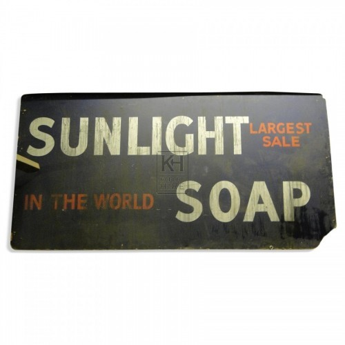 Sunlight Soap sign - Very large