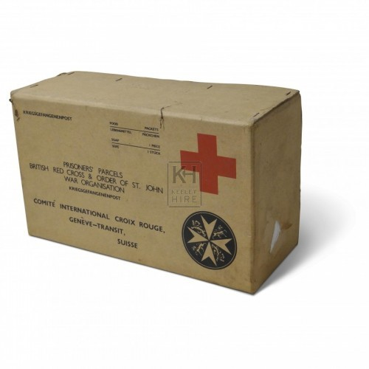 Red Cross Cardboard Box