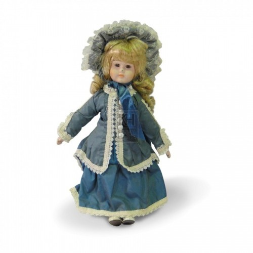 China Face Doll with Blue Dress