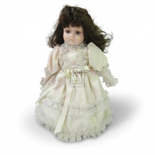 China Face Doll with White Lace Dress