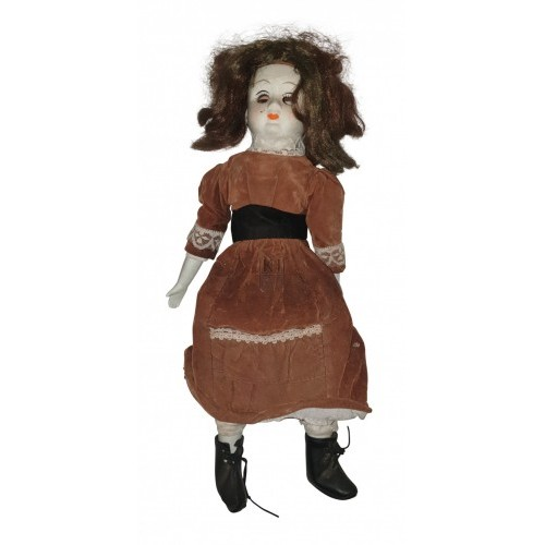 China Face Doll with Orange Dress