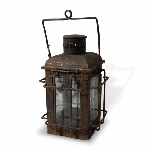 Large Iron Windowed Lantern