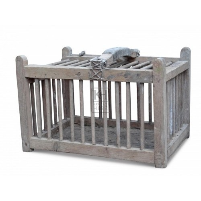 Wood animal / bird cage with handle