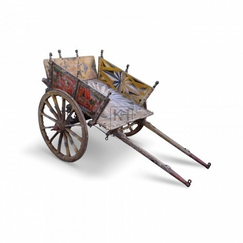 Small yellow Sicilian handcart