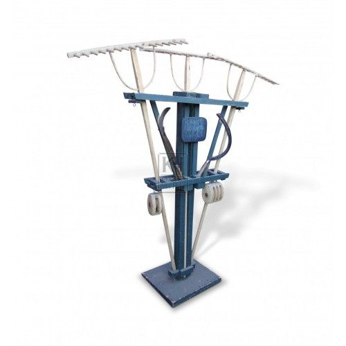 Shop display - rakes pulleys & sickles