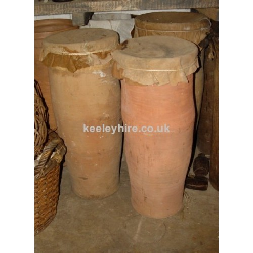 Large earthenware storage jars