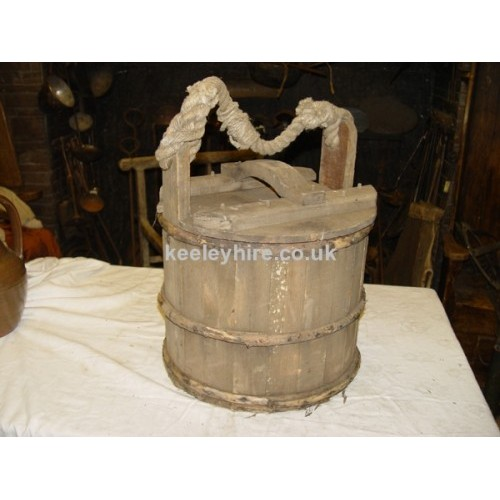 Wood Bucket with Lid