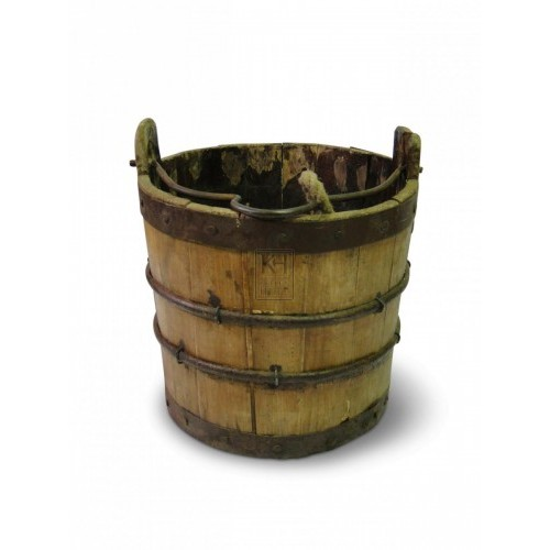 Wood Bucket - Iron Hoops