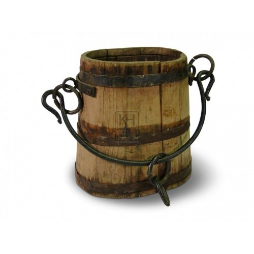 Oval Shaped Wood Bucket