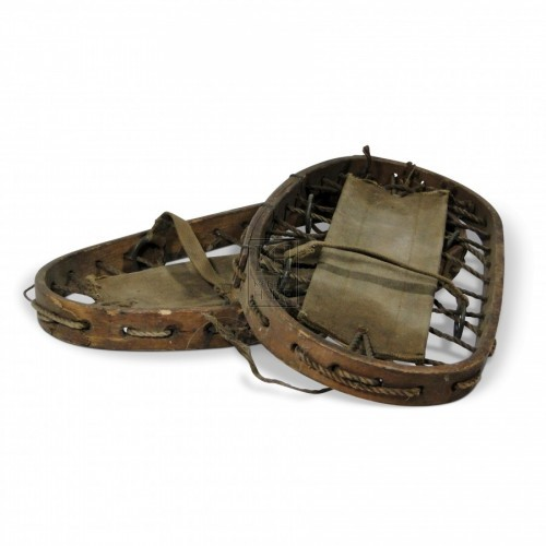 Bear Paw Snowshoes with cloth bindings