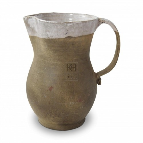 Semi Glazed Pottery Jug