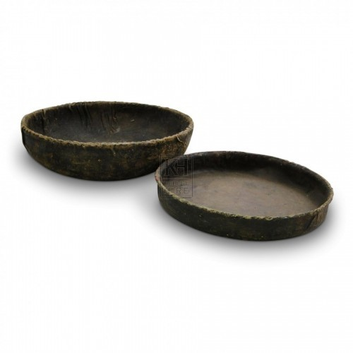 Leather Bowls & High-Sided Plates
