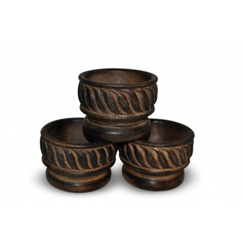Small Carved Wood Bowls