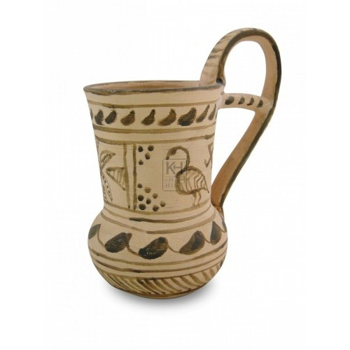 Greek Pottery Tall Tankard