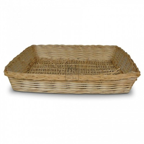 Shallow Wicker Display Basket
