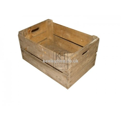 Wood veg crate