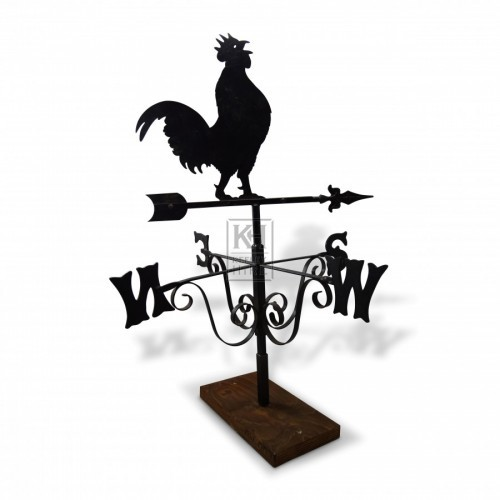 Weathervane with Crowing Cockerel