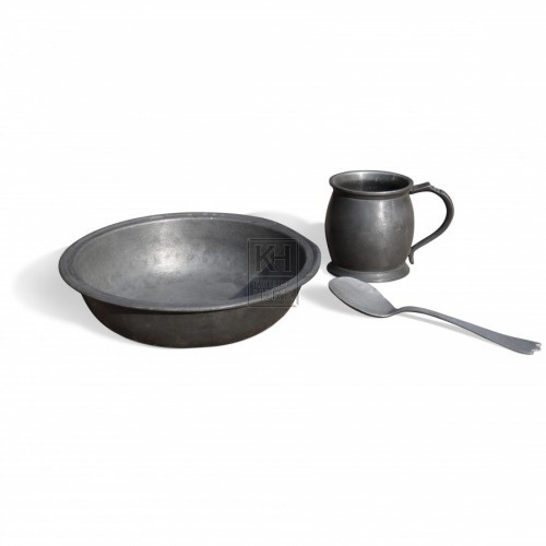 Assorted Pewter Items