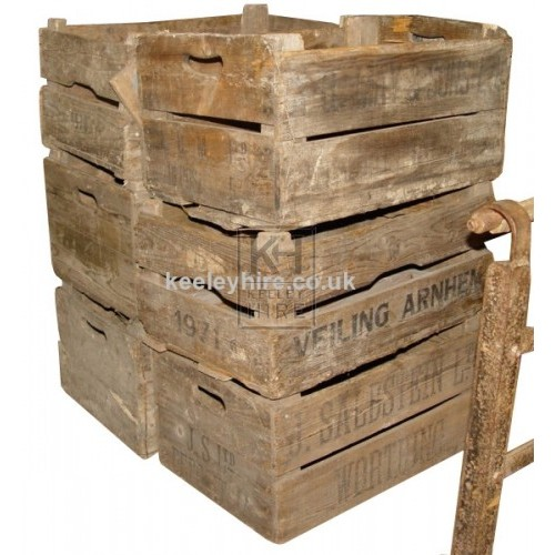 Wood veg crates