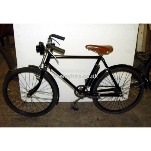 Period childs bicycle with brown saddle