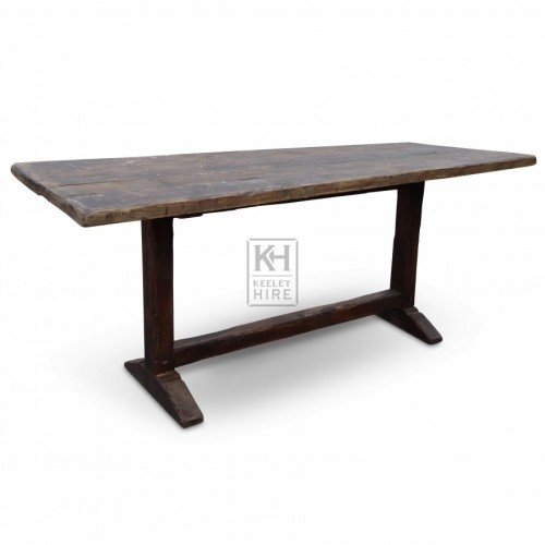 6ft Dark wood table