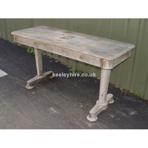 Grey wood table