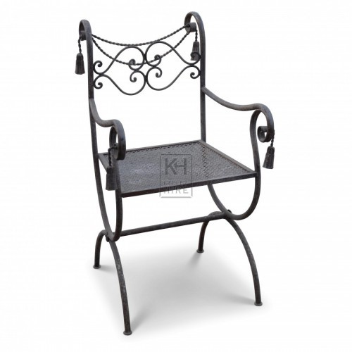 Ornate Iron Chair