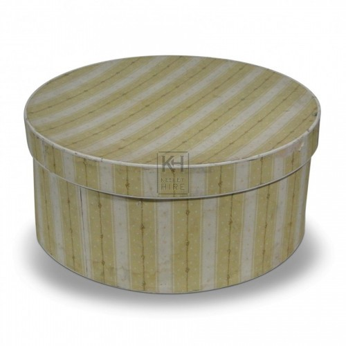 Hat Box - Yellow Stripe
