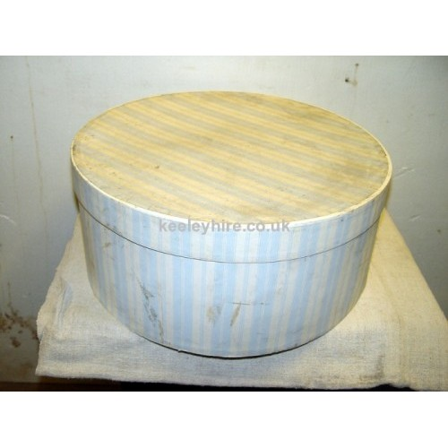 Hat Box Pale Blue Stripe