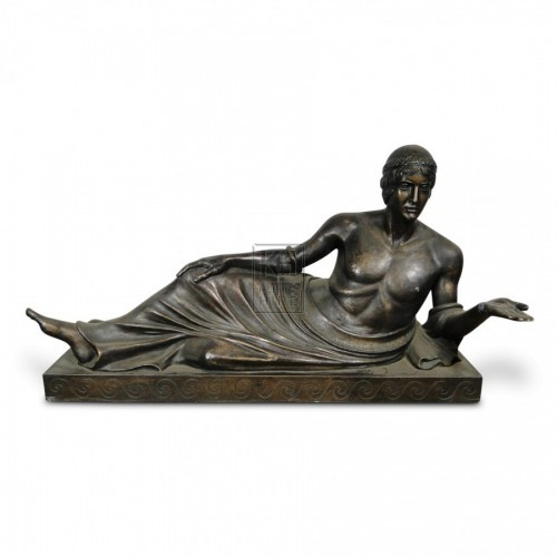 Lightweight Bronze Reclining Statue