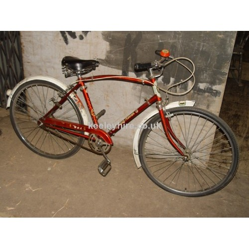 1960s Mans red bicycle