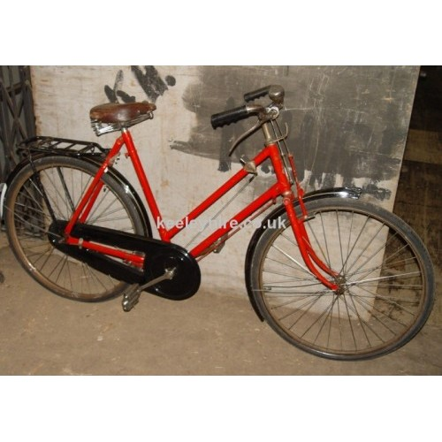 1960s ladies red/black bicycle