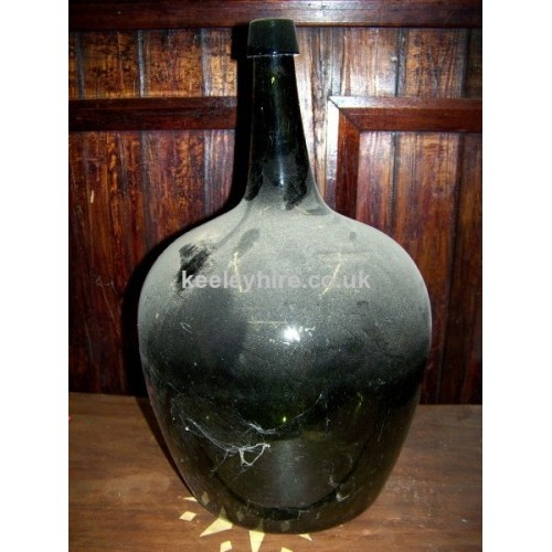 Large bulbous glass bottle