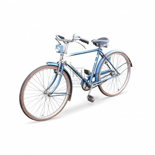 1950s blue childs bicycle