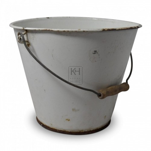 Enamel Bucket with Handle