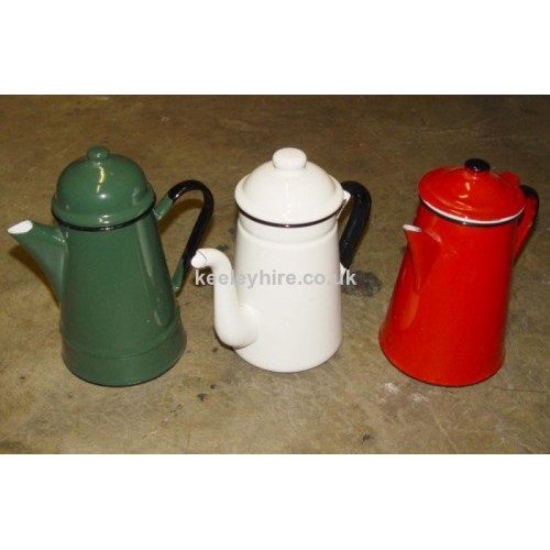 Small Enamel Coffee Pots