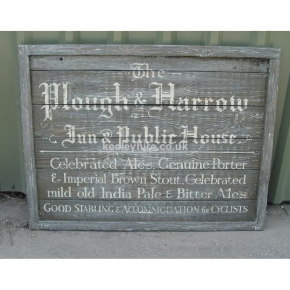 Plough & Harrow Inn sign