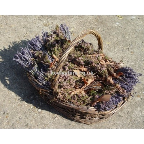 Basket of dried lavender