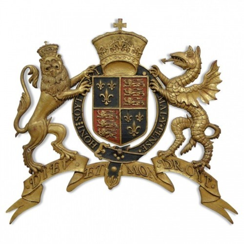 Decorated Lion & Dragon Royal Crest