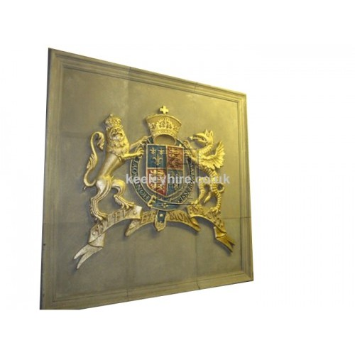 Lion & Dragon Royal Crest on Panel