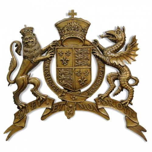 Polished Lion & Dragon Royal Crest